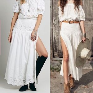 Spell & The Gypsy Bambi eyelet maxi skirt M